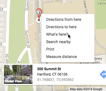 To geocode one address, search in Google Maps and right-click What's here? to show coordinates.