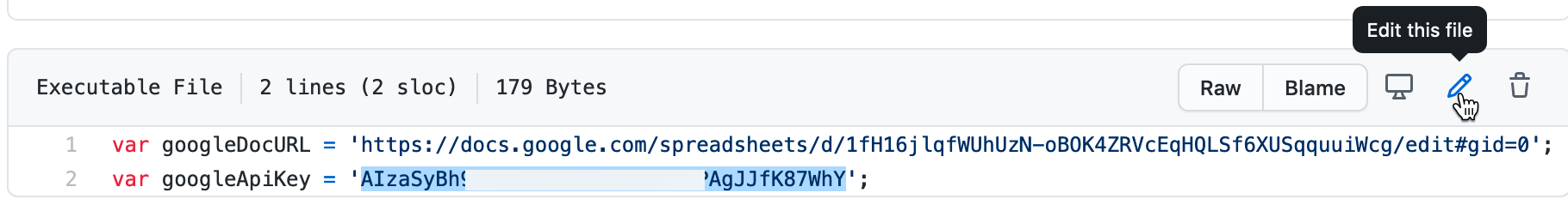 Paste in your Google Sheets API key to replace our key.